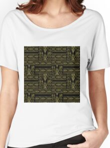 Patchwork seamless snake skin pattern texture Women's Relaxed Fit T-Shirt