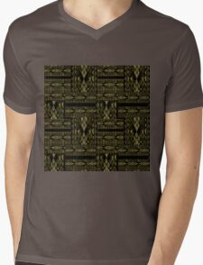 Patchwork seamless snake skin pattern texture Mens V-Neck T-Shirt