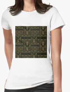 Patchwork seamless snake skin pattern texture Womens Fitted T-Shirt