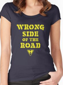 Wrong Side of the Road (Yellow) Women's Fitted Scoop T-Shirt