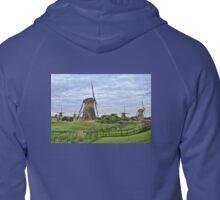 The Mills of Kinderdijk Zipped Hoodie