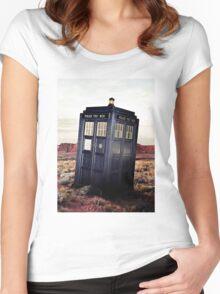 Tardis in Desert Women's Fitted Scoop T-Shirt