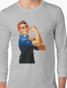 Rosie The Riveter Retro Style design Long Sleeve T-Shirt
