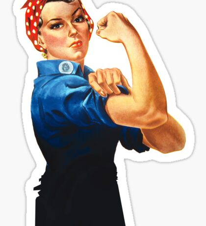 Rosie The Riveter Retro Style design Sticker