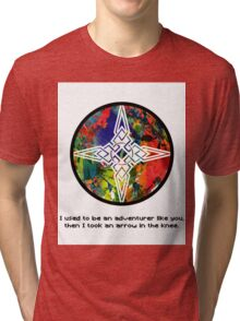 Took an Arrow in the Knee - Dawnstar Version Tri-blend T-Shirt