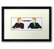 Wicked.  Framed Print