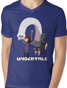 Lesser Dog and Frisk Mens V-Neck T-Shirt