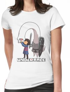 Lesser Dog and Frisk Womens Fitted T-Shirt