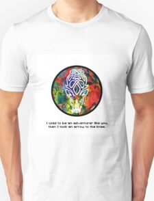 Took an Arrow in the Knee - Falkreath Version Unisex T-Shirt