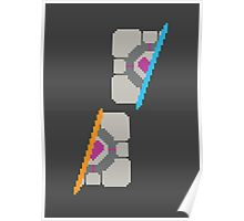 Pixel Companion Cube Poster