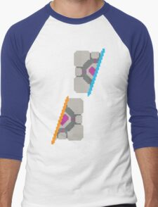Pixel Companion Cube Men's Baseball ¾ T-Shirt