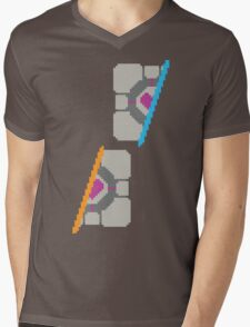 Pixel Companion Cube Mens V-Neck T-Shirt