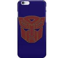 Transformers autobot iPhone Case/Skin