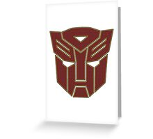 Transformers autobot Greeting Card