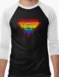 SUPER GAY HERO Men's Baseball ¾ T-Shirt