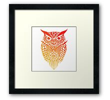 Owl orange gradient Framed Print