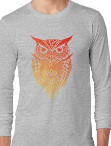 Owl orange gradient Long Sleeve T-Shirt