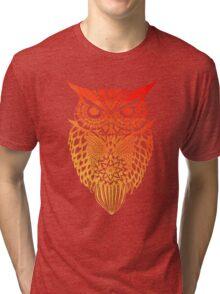 Owl orange gradient Tri-blend T-Shirt