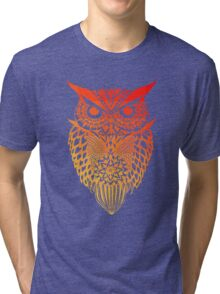 Owl orange gradient Tri-blend T-Shirt