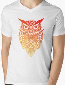 Owl orange gradient Mens V-Neck T-Shirt