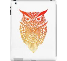 Owl orange gradient iPad Case/Skin