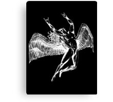 ICARUS THROWING THE HORNS - white Canvas Print