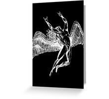 ICARUS THROWING THE HORNS - white Greeting Card