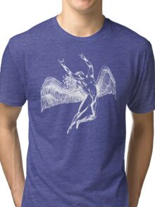 ICARUS THROWING THE HORNS - white Tri-blend T-Shirt
