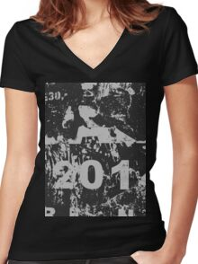 201 Women's Fitted V-Neck T-Shirt