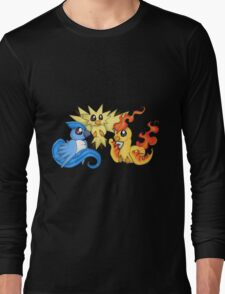 Pokemon Kanto legendary birds Long Sleeve T-Shirt