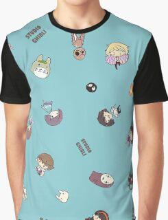 Studio Ghibli Falling Characters Graphic T-Shirt