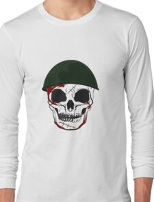 the skull army Long Sleeve T-Shirt
