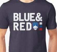 ManuElla - Blue and Red Unisex T-Shirt