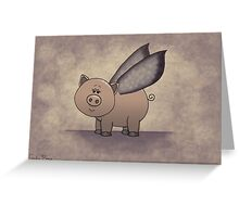 Vintage Piggy Greeting Card