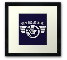 Who's side are you on? Framed Print