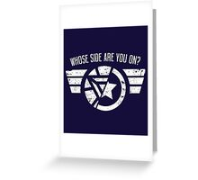 Who's side are you on? Greeting Card
