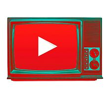 Youtube vintage tv Photographic Print