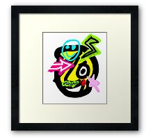 The Dude with signs Framed Print