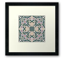 forest flowers day pattern Framed Print