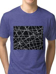 White Lattice Tri-blend T-Shirt
