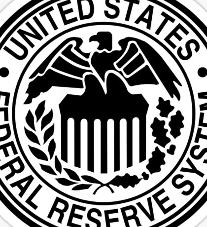 The Federal Reserve logo Sticker