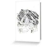 Desert mountains Greeting Card