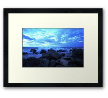 Marino Rocks Framed Print