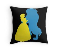 Beauty and a beast Throw Pillow