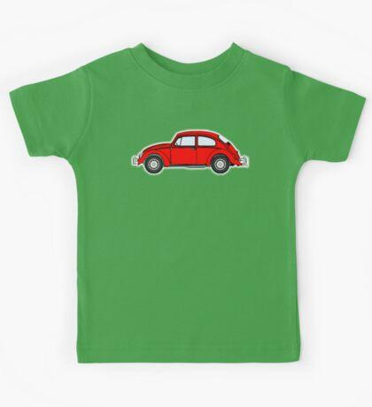 VW, Volkswagen, Beetle, Bug, Motor, Car, RED Kids Tee