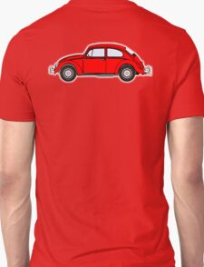 VW, Volkswagen, Beetle, Bug, Motor, Car, RED Unisex T-Shirt