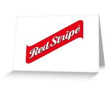 RED STRIPE BEER LAGER Greeting Card
