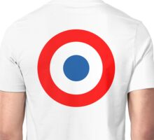 Roundel, Tricolore, cockade, French, Air Force, Bullseye, combat, aircraft, First World War Unisex T-Shirt