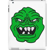 ugly face monster horror halloween grimace eat green head iPad Case/Skin