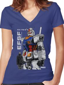 Gundam Women's Fitted V-Neck T-Shirt